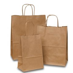 Anchor Paper - Gage & Gage 66# Shopper Bags with Kraft Paper Twist Handles