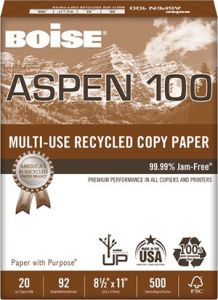 Aspen® 100% Multi-Use Recycled Copy Paper