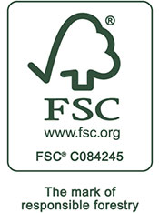 FSC C084245 The mark of responsible forestry. www.fsc.org